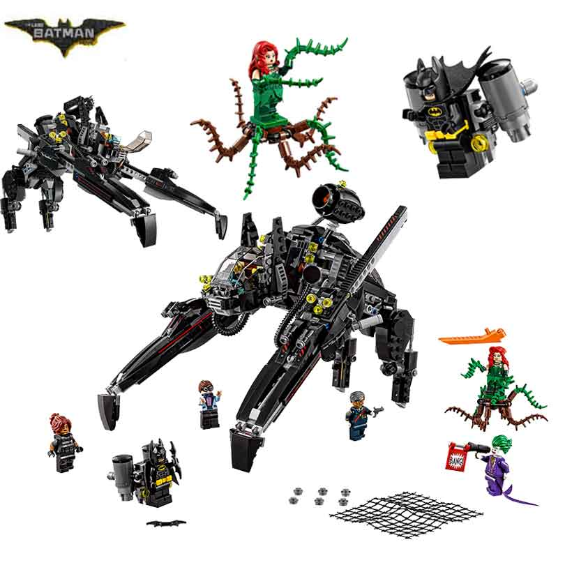 LEPIN 07056 Batman Movie Ride The Scuttler 70908 With Batman Man-Bat Building Block 775pcs Bricks Toys Gift For Children Batman<br>