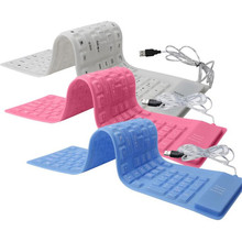 USB roll-up Flexible Silicone Keyboard For PC Laptop Fashionable High Quality Dropshipping Free Shipping # 30
