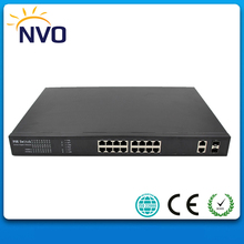 16-port 10/100 802.3af PoE Switch -14 x10/100 PoE Ports, 2 Combo (SFP) Slots(China)