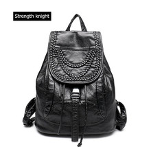 High-grade Leather Backpacks Washed Leather Bag School Bags For Girls Female Casual Shoulder Travel Bags Rucksack