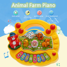 Musical Toys Animal Farm Piano Electronic Keyboard Music Development Musical Educational Baby Toddler Kids Toys(China)
