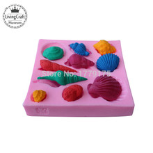 Sea Lifes 10 style Shell Conch shape,Silicone cake cookies Chocolate Baking Mold,cooking tool,Cake Decorating Fondant Tools,DIY