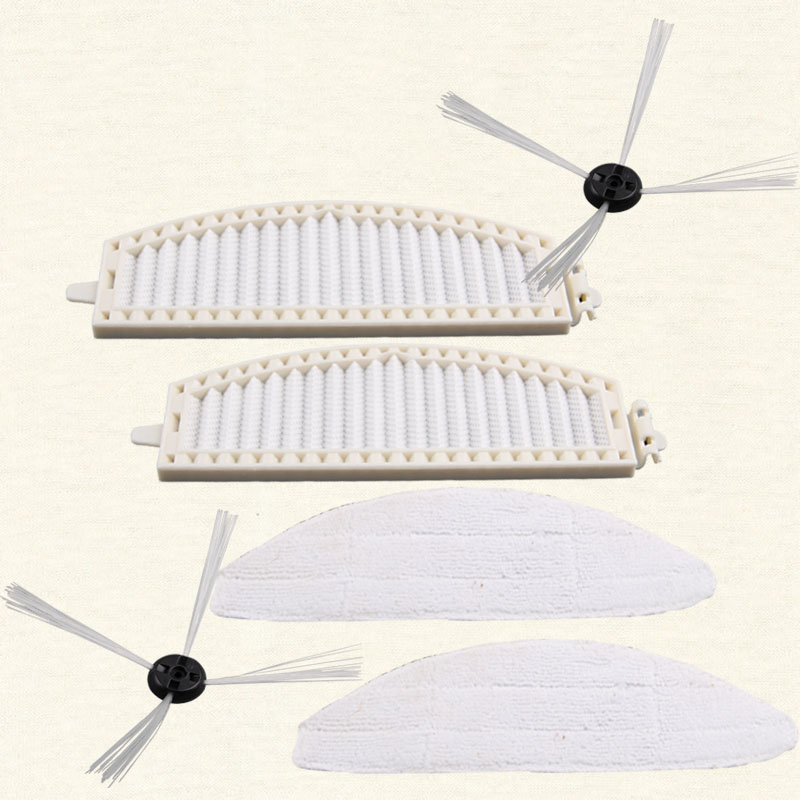 Original A380 Side brush *2 pcs, Mop *2 pcs, HEPA Filter *2 pcs Vacuum cleaner parts supply from factory <br>