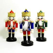 ht105 Free shipping doll puppets  Toy  stocky soldier Nutcracker puppet 10cm, children Christmas  birthday gifts, 3 pieces / set