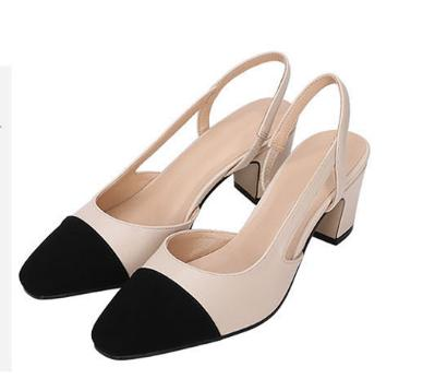 In the spring  2016 square meters runway black color high-heeled  Women Pumps shoes Asakuchi rough documentary low womens shoes<br><br>Aliexpress