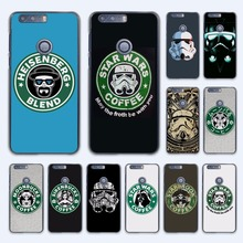 coffee series star wars logo design hard transparent Case Cover for Huawei Honor 7 8 V8 G8 5 5C 5X 4C 4X 6 Plus phone case