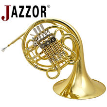 JAZZOR JYFH-E130G 4-key Double French Horn Entry Model, Bb/F gold lacquer Wind Instruments French Horns with mouthpiece