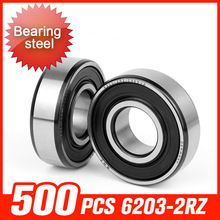 500pcs 6203-2RZ Bearing 40x17x12mm Bearings For Electronic Communication Industry High-speed Motor Hardware Tool Accessories(China)