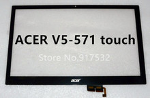 "For Acer Aspire V5-571P V5-571P-6657 MS2361 Black 15.6 "" Touch Screen Digitizer Glass Lens Replacement Free tools"