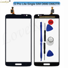 Front Panel Touchscreen For LG G Pro Lite D680 D682 Single SIM Touch Screen Sensor LCD Display Digitizer Glass Cover Replacement(China)