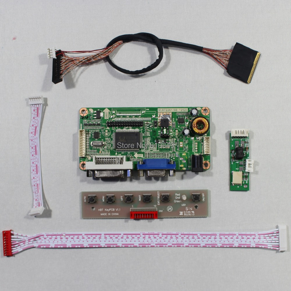 DVI+VGA LCD controller board RT2261 for 10.inch B101UAN02.1 1920*1200 AHVA LCD<br><br>Aliexpress