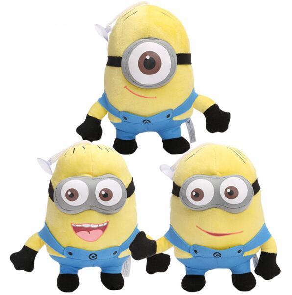 3pcs/lot   Plush Toys Figures Minion Jorge Dave Stewart  Stuffed Animal Plush Toys Doll<br><br>Aliexpress
