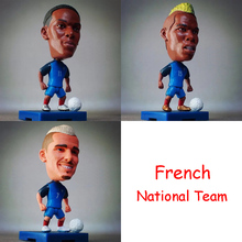 New France French National Team Pogba Griezmann Martial movable Football player star display dolls toys