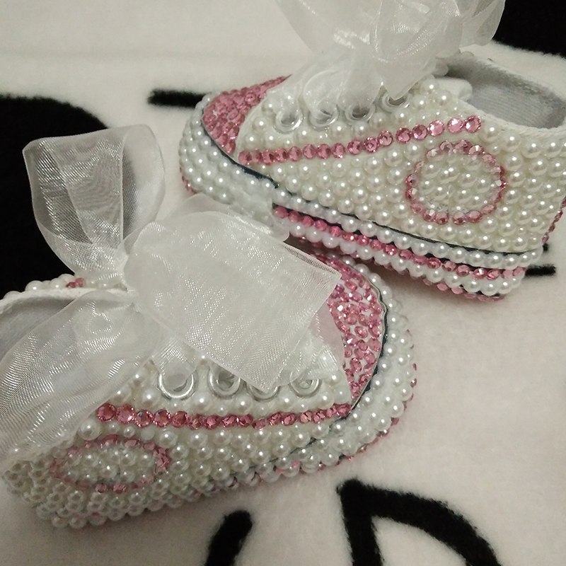 free shipping rhinestone Crystal Baby Girl Child shoes handmade Bling diamond First Walkers bead soft shoes pearl princes lovely<br><br>Aliexpress