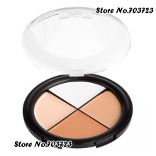 Makeup Palette Light Brown White 4 Color Concealer Palette Camo Quad medium skin tones N01(China)