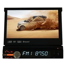 EinCar Single 1 Din Touch Screen Car Stereo In Dash Radio Head Unit GPS Navigation Car DVD CD Player with Bluetooth 8GB Map Card
