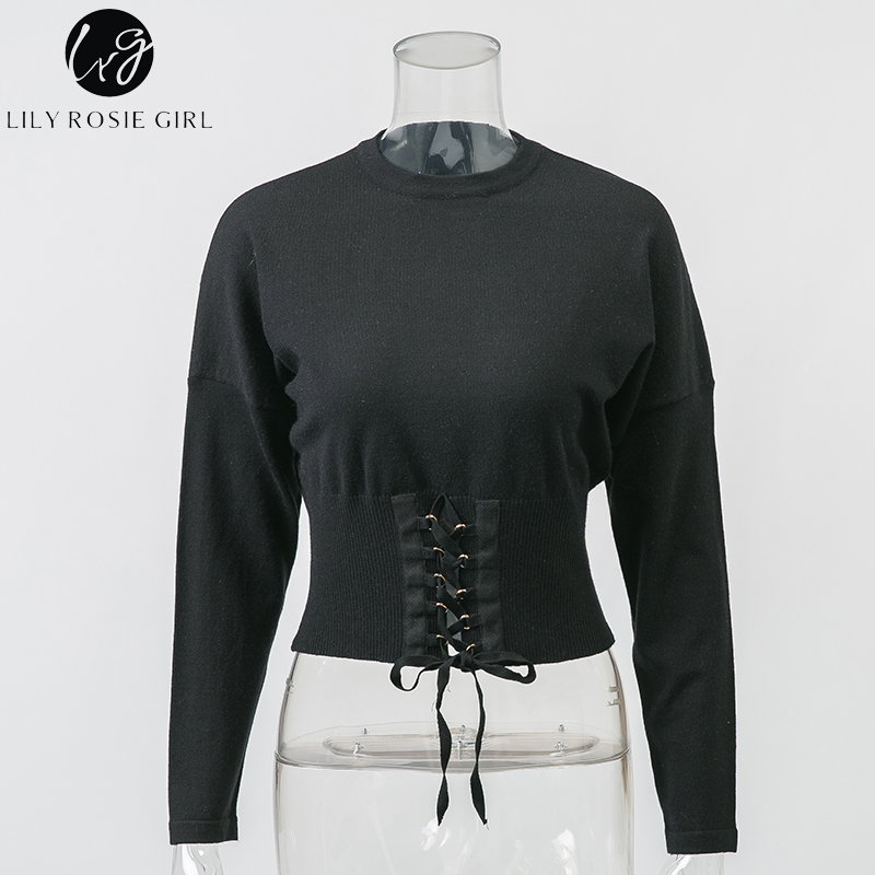 35e7d973fb Detail Feedback Questions about Lily Rosie Girl Sexy Crop Lace Up ...