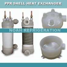 25KW high temperature resistant titanium twisted tube heat exchanger, swimming pool titanium heat exchanger (NY-250W)