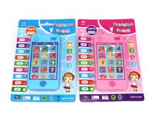 Baby Early Learning&Training Machines toy phone russian language animal sounds kids phone educational musical Phone For Children(China)