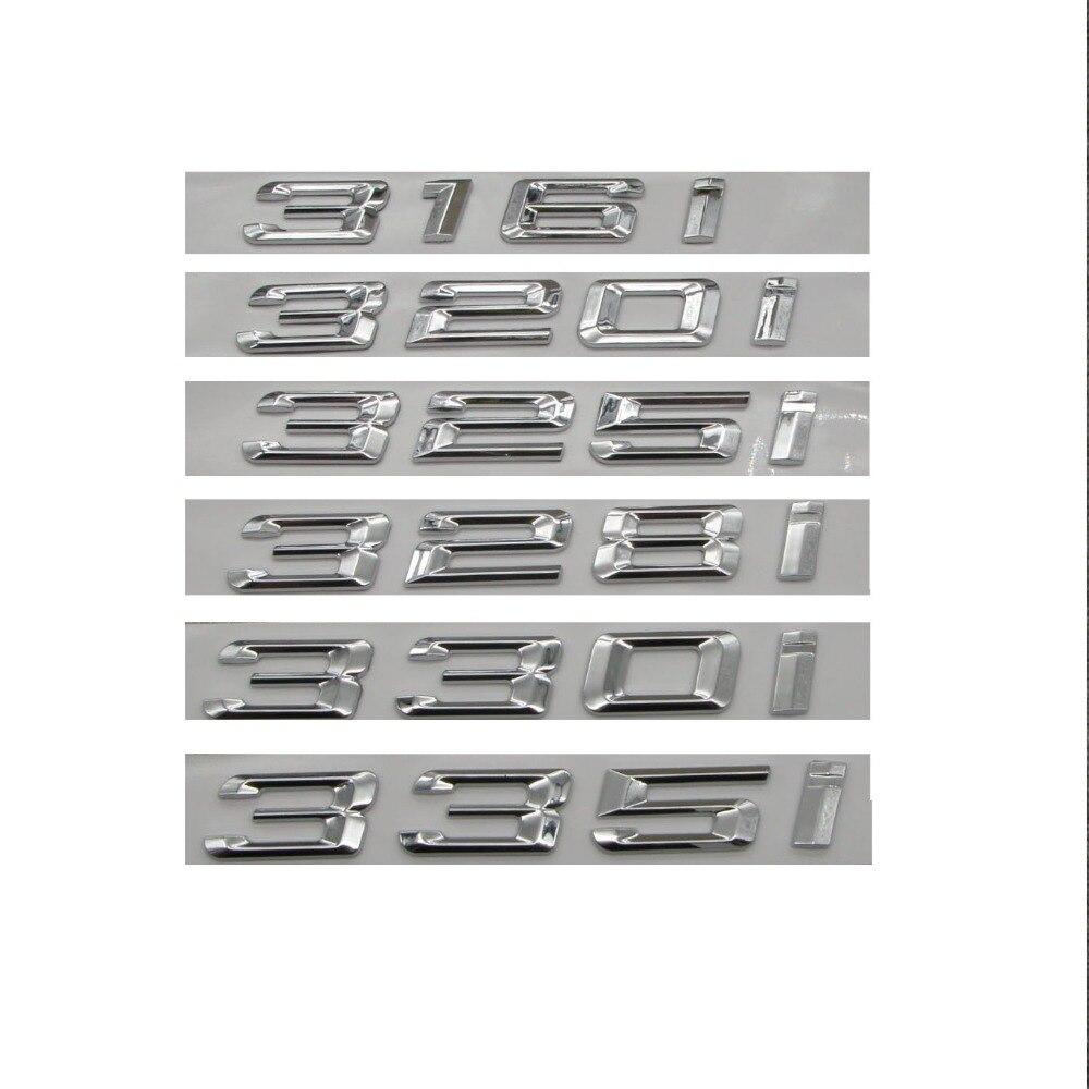 "Gloss Black /"" 316 i /"" Number Trunk Letters Emblem Badge Sticker for BMW 3 Series"