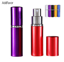 AddFavor 5ml Travel Mini Refillable Bottles with Spray Empty Case,Cute Tiny Small Perfume Bottle Aluminum Nozzle Spray  Bottles