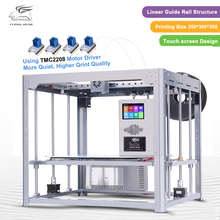 Buy Free Flyingbear Tornado large 3d Printer DIY Full metal Linear rail 3d printer High Precision double extruder for $533.75 in AliExpress store