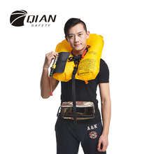 QIAN SAFETY Professional Universal Inflatable Life Jacket Automatic SOLAS Approved Reflective Tape Waist Pocket Style Life Vest