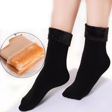 1 Pair Winter Women Stock Wool Home Snow Boots Cotton Socks(China)