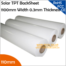 1100mm Solar Back Sheet / PV back Sheet/TPT,0.35mm Thickness for Encapsulation Solar Panel with TUV+UL Certification,10meter/Lot(China)