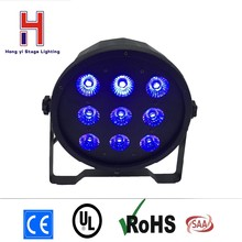 (1 pieces/lot) Led Flat Par 9x12W RGBW 4IN1 Slim Led Par Can Light Plastic Case Stage DJ Disco Strobe
