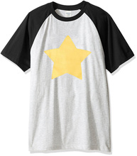 Hot sale STEVEN UNIVERSE STAR print 2017 summer fashion t shirt men short sleeve raglan tshirt brand clothing harajuku top tees(China)