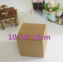 Many sizes Blank Kraft paper packaging recycled kraft paper gift box handmade soap packaging cardboard packing carton  box