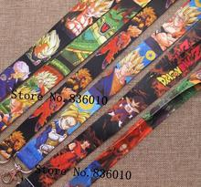Hot Sale! 10 pcs Popular Dragon Ball  Key Chains Mobile Cell Phone Lanyard Neck Straps    Favors P-55