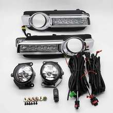 For Mitsubishi Pajero Front Fog Lamp+ LED Daytime Running Lights Assembly 2015 2016 year