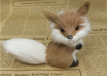MINI simulation fox toy / vivid and adorable / ideal present or desk car decoration 12*8 cm(China)