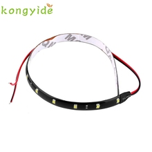 car-styling Motorcycle Strip 12V 15 LED Car Auto Waterproof Strip Lamp Flexible Light Mar21