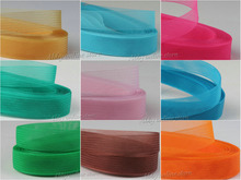 1pcs Soft horsehair Polyester fabric Flat Plain Crinoline Braid Mesh Ribbon For crafts,Women diy hat #33Color Various sizes(China)