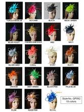 NEW 19 colors.EMS FREE SHIPPING.sinamay  fascinator Feather fascinator for Wedding,Races,Kentucky derby,TOP grade workmanship