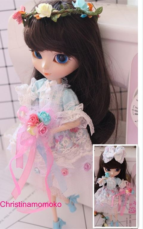 Free shipping high quality Handmade 5pcs/set Doll Clothes for Blythe licca pullip Doll accessories Toys Gift<br>