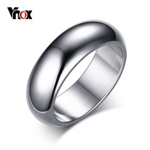 Buy Vnox 7mm Classic Ring Women Men Arc Surface Stainless Steel Wedding Band Gold Color Unisex Neutral Simple Statement Jewelry for $1.89 in AliExpress store