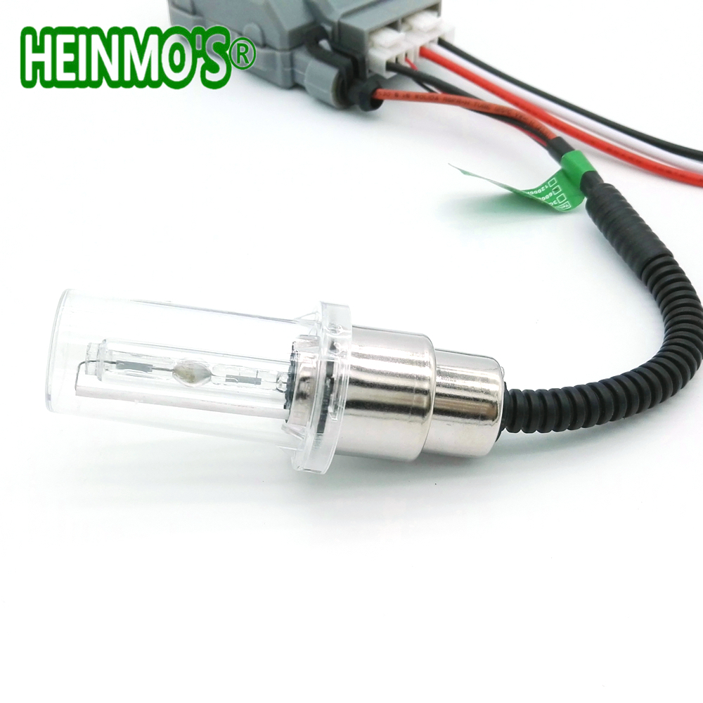 Motorcycle 35W HID Xenon Head Light Bulb Kit H4 HiLo Headlight Bulbs Moto HID Xenon lamp BA20D H6 4300K - 6000K 8000K Ballast (9)