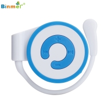 Binmer Mini MP3 Player Worn On The Ear Music Media Player USB Support TF Card 160901 Professional Drop Shipping High Quality