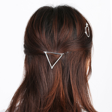 1PC Alloy Punk Grothic Hollow Women Girl Square Pineapple Triangle Barrette Hairpin Hair Clip Geometric Hair Accessories