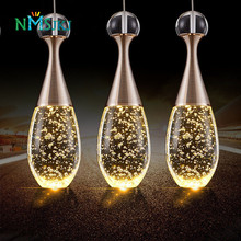 Modern Brief LED Restaurant Lights Bubble Lustre Crystal Pendant Light Bar Work Table Living Room Lights Lighting Fixture Lamps(China)