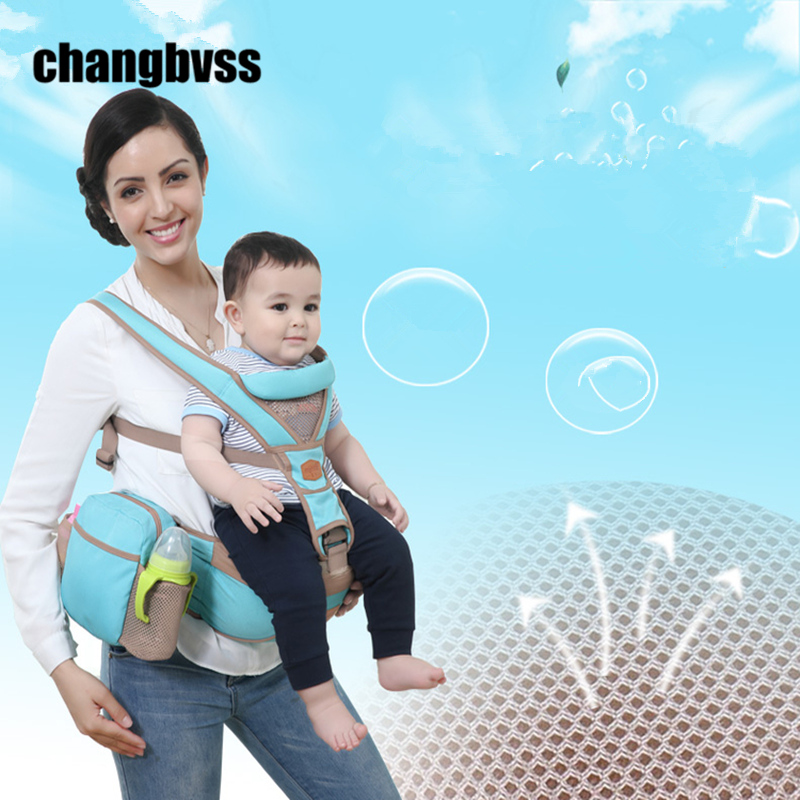 3~36Months Baby Carrier Baby Sling Hipseat Belt 4 Seasons Baby Kangaroo Wrap Breathable Kids Backpack With Storage Bag mochilas <br>