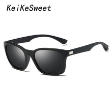 KeiKeSweet Brand Designer Sport HD Polarized Man Women Hot Rays Sunglasses Outdoor Unisex Square Goggle Driving Top Sun Glasses(China)