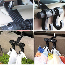 New Car Seat Double Hooks Coat Purse Shopping Bag Organizer Holder Plastic Hanger 8PB2