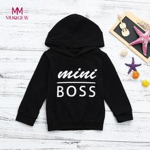 Toddler Kids Baby Boys Hooded Sweatshirts Infant Letter Blouse Hoodies Tops bobo Choses Winter 2018 2018 Hoodie Kids(China)