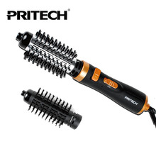 PRITECH Brand Professional Electric Hair Curler Perfect Curling Iron Brush Personal Care Hair Styling Tools Free Shipping