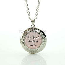 Best Deals Ever How fragile this heart can be Lyrics Song Poem locket Pendant Inspiration Jewelry souvenirs  gift N 1060